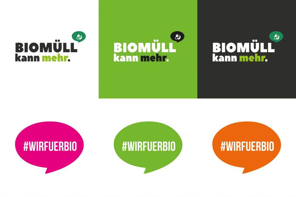 Kampagnengrafiken in unterschiedlichen Farbkombinationen