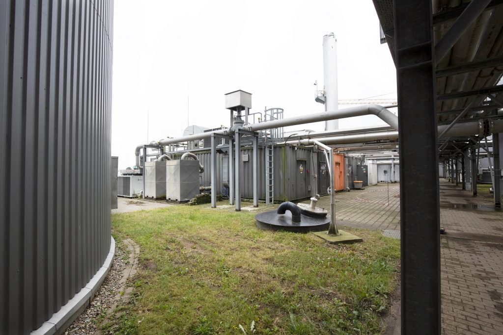 Gelände einer Bioabfallbehandlungsanlage
