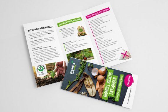 Kampagnenfaltblatt zum Thema Biotonneninhalt