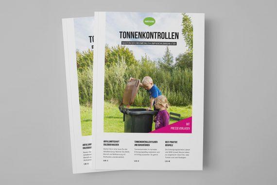 Magazine mit Tonnenkontrollen-Konzept
