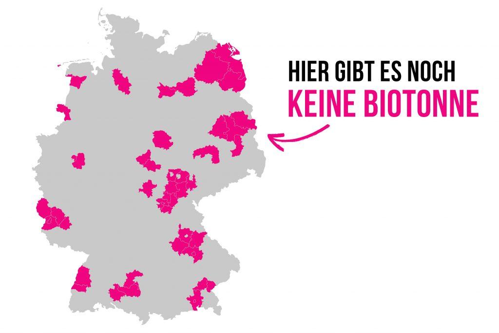Infografik zur Biotonnen-Verbreitung Deutschlands